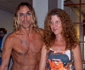 Iggy Pop and Jill Kahn